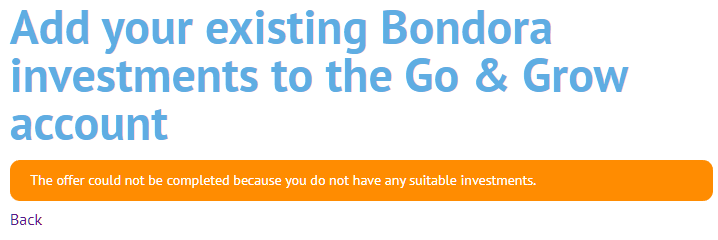 Bondora rejects buying my portfolio
